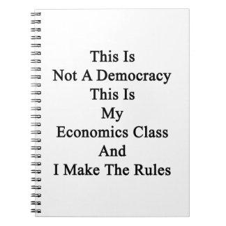 Esto no es una democracia que ésta es mi clase de libretas