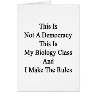 Esto no es una democracia que ésta es mi clase de