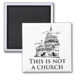 Esto no es una iglesia iman para frigorífico