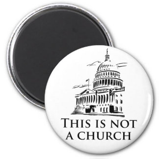 esto no es una iglesia imán redondo 5 cm