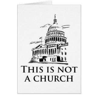 esto no es una iglesia tarjeta de felicitación