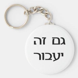 Esto pasará también en hebreo llavero redondo tipo pin