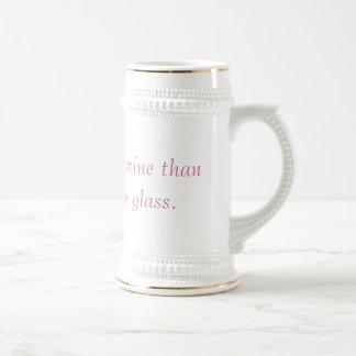 Esto sostiene más vino que mi vidrio de vino real taza de café