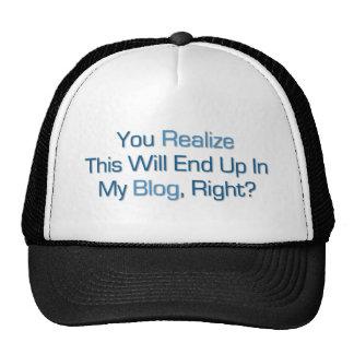 Esto terminará para arriba en mi blog gorras