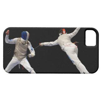 Estocada y Parry de cercado olímpicos iPhone 5 Funda