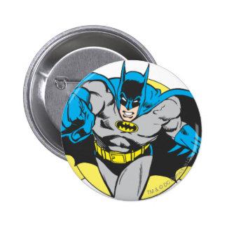 Estocadas de Batman adelante Pin Redondo De 2 Pulgadas