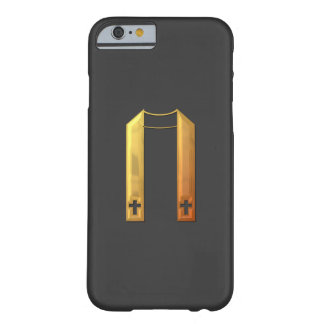 "Estola litúrgica ""tridimensional"" de oro funda para iPhone 6 barely there"