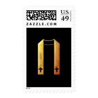 """Estola litúrgica """"tridimensional"""" de oro sello"""