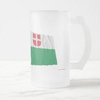 Estonia and Harju Waving Flags Frosted Glass Beer Mug