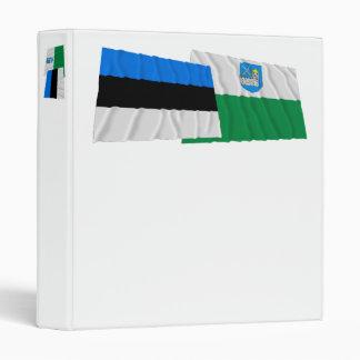 Estonia and Lääne-Viru Waving Flags 3 Ring Binder