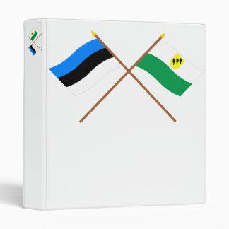 Estonia and Põlva Crossed Flags Binder