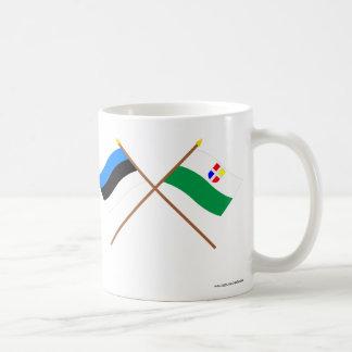 Estonia and Rapla Crossed Flags Coffee Mug