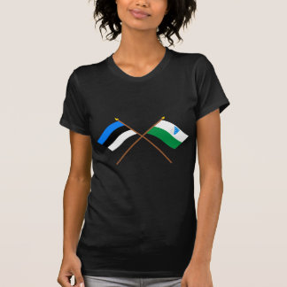 Estonia and Valga Crossed Flags T-Shirt