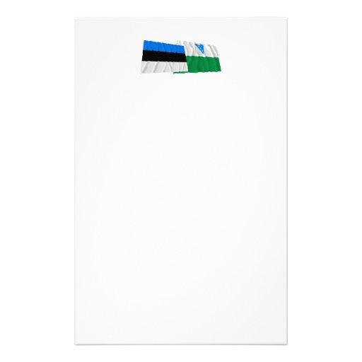 Estonia and Valga Waving Flags Stationery
