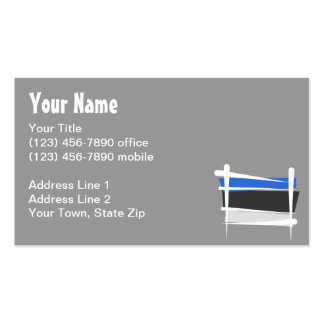 Estonia Brush Flag Business Card