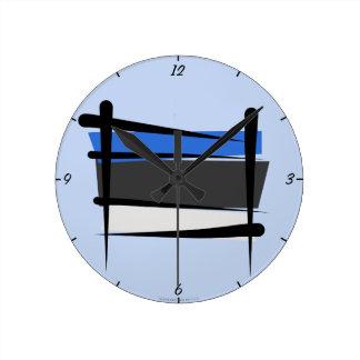 Estonia Brush Flag Clock
