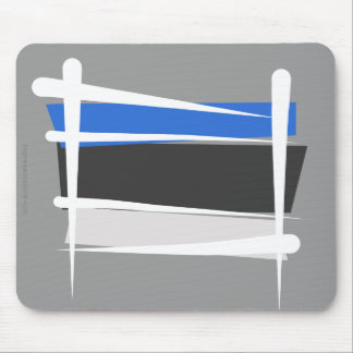 Estonia Brush Flag Mouse Pad