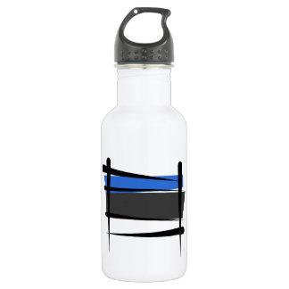 Estonia Brush Flag Stainless Steel Water Bottle
