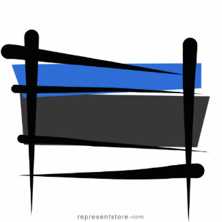 Estonia Brush Flag Statuette