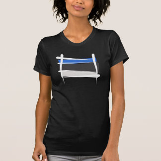 Estonia Brush Flag T-Shirt