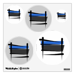 Estonia Brush Flag Wall Decal