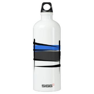 Estonia Brush Flag Water Bottle