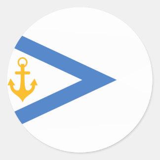 Estonia- Chief Of Naval Forces, Estonia flag Round Stickers
