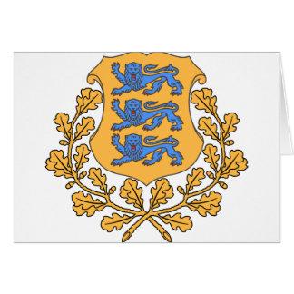 Estonia Coat of Arms Card
