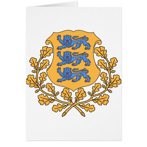 Estonia Coat of Arms Greeting Cards