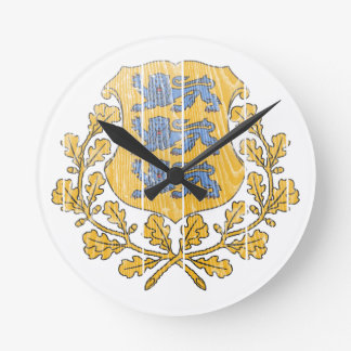 Estonia Coat Of Arms Wall Clock