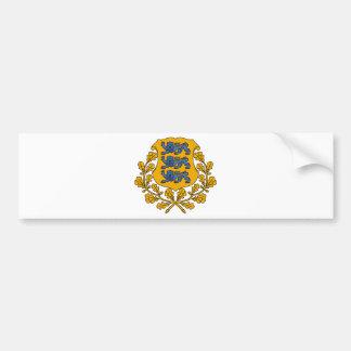 Estonia Coat of arms EE Bumper Sticker