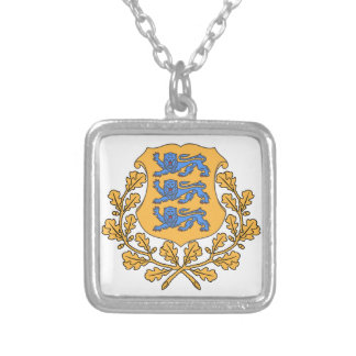 Estonia Coat of Arms Custom Necklace
