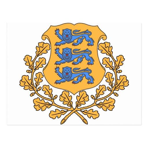 Estonia Coat of Arms Postcards