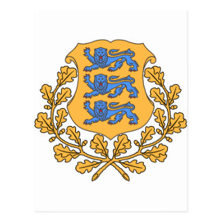 Estonia Coat of Arms Postcard