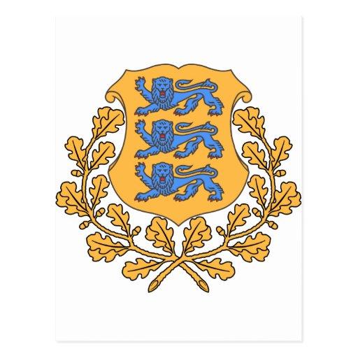 Estonia Coat of Arms Post Card
