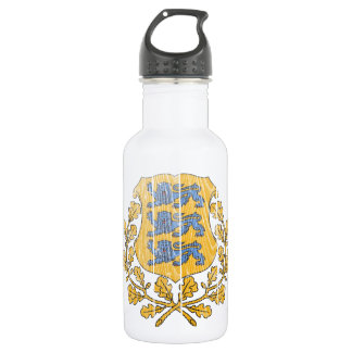 Estonia Coat Of Arms Stainless Steel Water Bottle