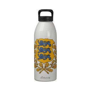 Estonia Coat Of Arms Reusable Water Bottles