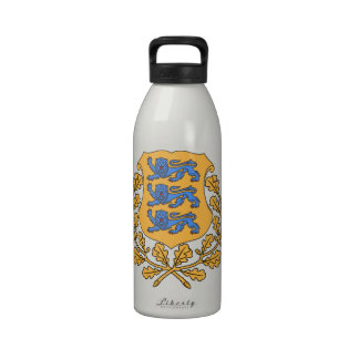 Estonia Coat of Arms Water Bottles