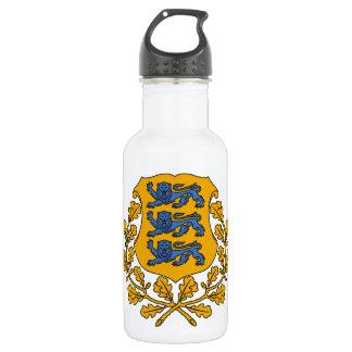 Estonia Coat Of Arms Water Bottle
