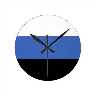 estonia country flag clock
