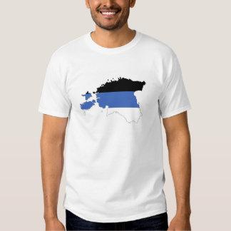 estonia country flag map shape symbol shirts