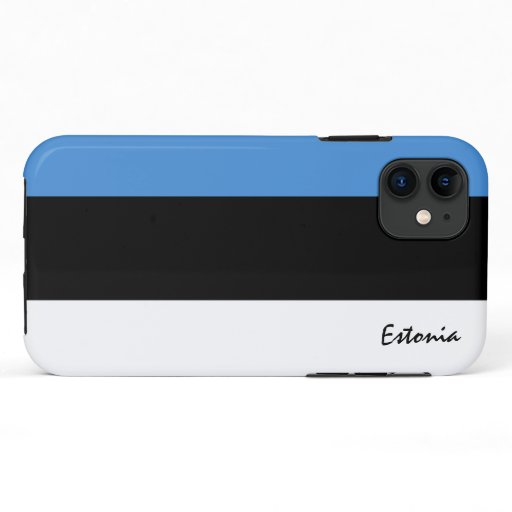 Estonia & Estonian Flag fashion, travel /sports iPhone 11 Case