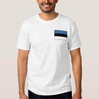Estonia Flag and Map T-Shirt