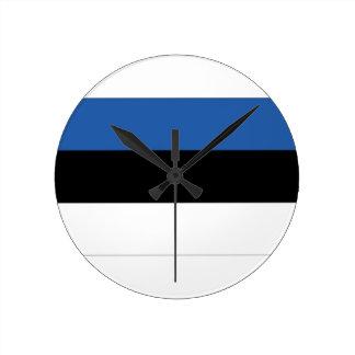 Estonia Flag Round Clock