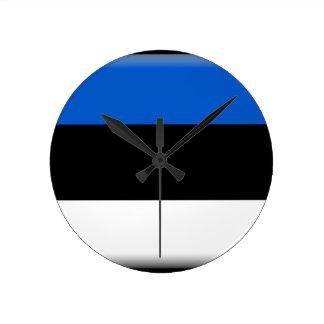 Estonia Flag Round Clocks
