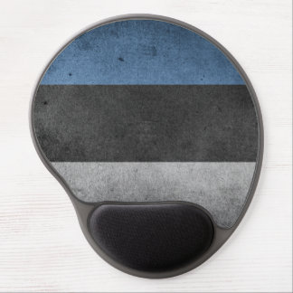 Estonia Flag Grunge Gel Mouse Pad