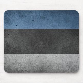 Estonia Flag Grunge Mouse Pad