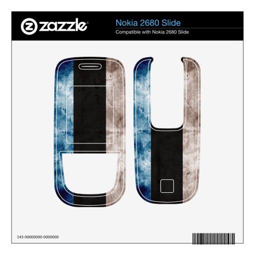 Estonia Flag; Grunge Series Skin For Nokia 2680 Slide