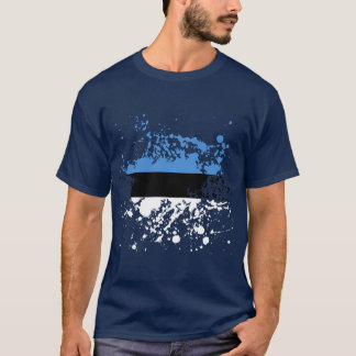 Estonia Flag Ink Splatter T-Shirt