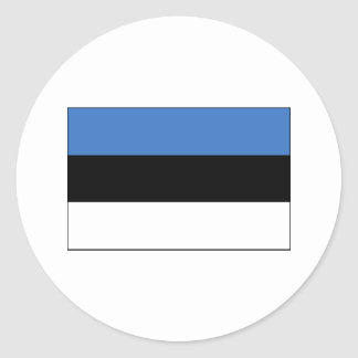 Estonia FLAG International Round Stickers